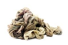 Muitas calças justas isoladas no branco Foto de Stock Royalty Free