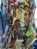 Muitas camadas de boletins e de cartazes rasgados Fotografia de Stock Royalty Free