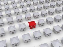 Muitas casas mas uma são diferentes Fotografia de Stock Royalty Free