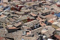 Muitas casas, recurso Malcesine foto de stock