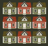 Muitas casas sob a forma de um ornamento Imagem de Stock