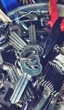 Muitas chave usado copiando chaves são uma chave de reposição fotografia de stock