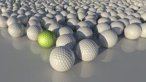 Muitas esferas de golfe Imagens de Stock