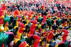 Muitas estátuas das galinhas Fotos de Stock