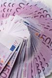 Muitas 500 euro- cédulas Moeda da UE Fotos de Stock