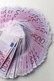 Muitas 500 euro- cédulas Moeda da UE Imagens de Stock