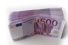 Muitas 500 euro- cédulas Moeda da UE Imagens de Stock Royalty Free