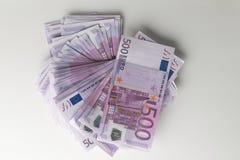 Muitas 500 euro- cédulas Moeda da UE Fotos de Stock Royalty Free