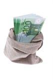 Muitas euro- notas de banco Fotografia de Stock