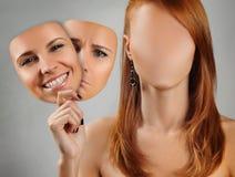 Muitas faces 2 Fotografia de Stock