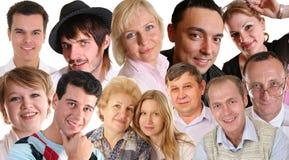 Muitas faces Imagem de Stock