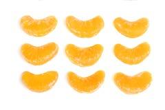 Muitas fatias das tangerinas Imagens de Stock Royalty Free