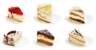 Muitas fatias de tortas Foto de Stock Royalty Free