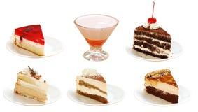 Muitas fatias de tortas Foto de Stock