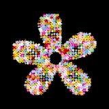 Muitas flores Fotografia de Stock Royalty Free