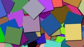Muitas formas quadradas coloridas estão na superfície, contexto gerado por computador da rendição 3d filme