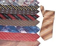 Muitas gravatas diversas Fotos de Stock Royalty Free