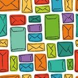 Muitas letras (teste padrão sem emenda do vetor) Fotografia de Stock