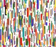 Muitas linhas de cor Ilustração Stock
