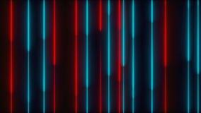 Muitas linhas de iluminação de néon verticais, contexto gerado por computador abstrato, 3D rendem ilustração do vetor