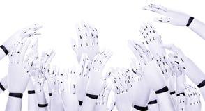 Muitas mãos fazem o trabalho claro Foto de Stock
