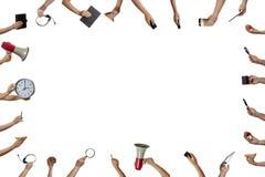 Muitas mãos fazem o trabalho claro Imagem de Stock Royalty Free