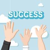 Muitas mãos querem travar um sucesso da palavra Foto de Stock