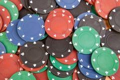Muitas microplaquetas de póquer Imagem de Stock