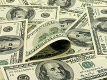 Muitas notas de banco de 100 dólares Imagem de Stock