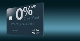 Muitas ofertas do cartão de crédito incluem agora a taxa de porcentagem anual de zero por cento por 12-15 meses e este cartão tro ilustração do vetor