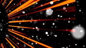 Muitas partículas violetas pequenas abstratas no espaço, fundo abstrato gerado por computador, rendição 3D filme