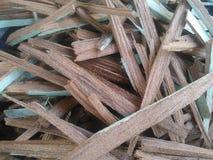 Muitas partes de madeira velhas pequenas fotos de stock royalty free