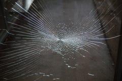 Muitas quebras no vidro Fotografia de Stock