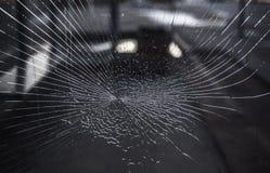 Muitas quebras no vidro fora Fotos de Stock
