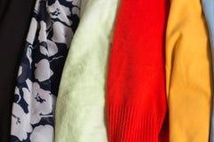 Muitas texturas coloridas de pano da tela com testes padrões Foto de Stock Royalty Free