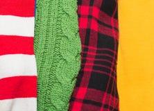 Muitas texturas coloridas de pano da tela com testes padrões Fotografia de Stock Royalty Free