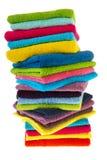 Muitas toalhas coloridas Foto de Stock Royalty Free