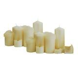 Muitas velas do branco Fotos de Stock