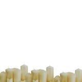 Muitas velas do branco Foto de Stock Royalty Free