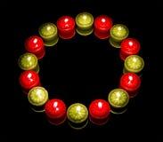 Muitas velas no círculo Foto de Stock