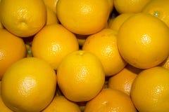 Muito close up suculento, maduro das laranjas Fotos de Stock Royalty Free