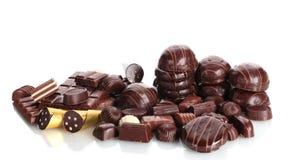 Muito doces de chocolate diferentes Fotografia de Stock Royalty Free