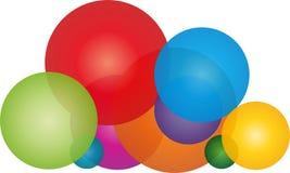 Muito esfera na cor, nuvem do logotipo das esferas, da nuvem e do pintor ilustração do vetor