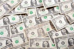 Muito fundo das cédulas de um dólar Fotografia de Stock Royalty Free