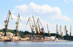 Muito guindaste do porto Imagem de Stock