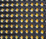 Muito lâmpada pequena do diodo emissor de luz do amarelo em seguido Foto de Stock
