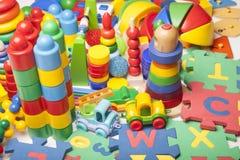Muito muitos brinquedos Fotografia de Stock Royalty Free
