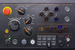 Muito o interruptor amável e gerencie o seletor do painel de controle para ajusta a máquina do lath do cnc do parâmetro na fábric foto de stock