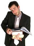 Muito ocupado - livros da terra arrendada e Imagem de Stock Royalty Free
