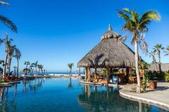 Muito padrões do hotel de luxo em um dia ensolarado em TODOS Santos, Baja California, México Fotografia de Stock Royalty Free